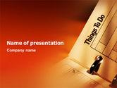 Business: Modèle PowerPoint de liste de tâches #02185