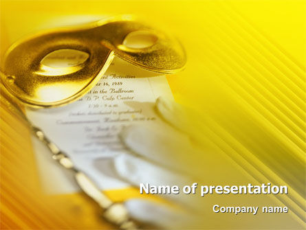 Art & Entertainment: Masquerade PowerPoint Template #02188