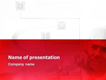 Technology and Science: Internet Business Communications Lines PowerPoint Template #02189