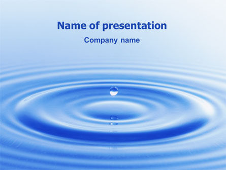 Abstract/Textures: Water Purification PowerPoint Template #02190