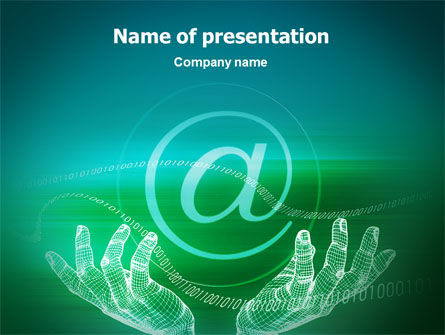 Internet Technologies PowerPoint Template, 02191, Technology and Science — PoweredTemplate.com