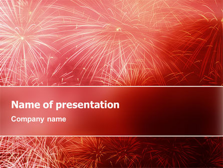 Holiday/Special Occasion: Fireworks PowerPoint Template #02193