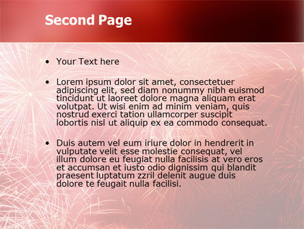 Fireworks PowerPoint Template, Slide 2, 02193, Holiday/Special Occasion — PoweredTemplate.com