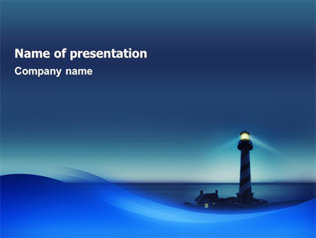Lighthouse PowerPoint Template, 02197, Nature & Environment — PoweredTemplate.com