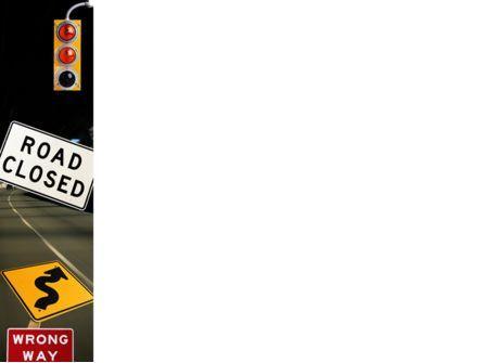 Road Sign PowerPoint Template, Slide 3, 02198, Education & Training — PoweredTemplate.com