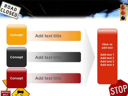 Road Sign PowerPoint Template Slide 12