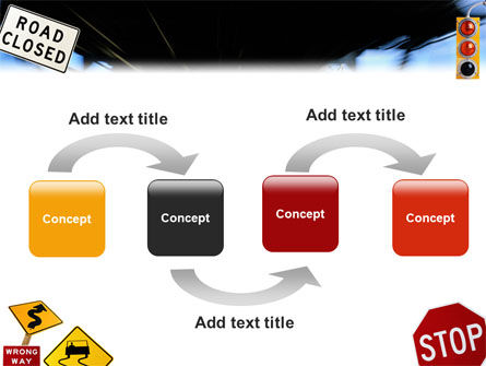 Road Sign PowerPoint Template Slide 4