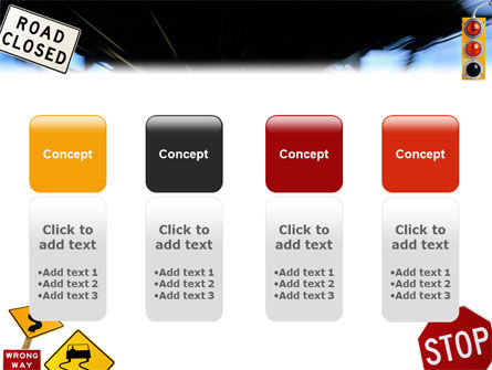 Road Sign PowerPoint Template Slide 5