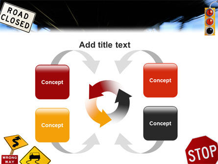 Road Sign PowerPoint Template Slide 6