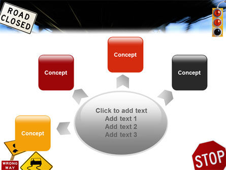 Road Sign PowerPoint Template Slide 7