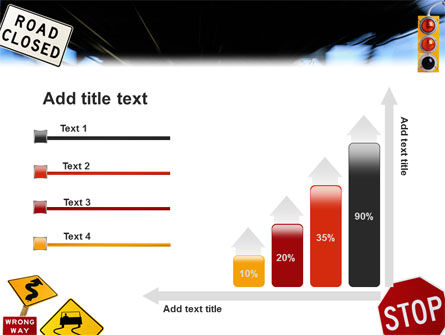 Road Sign PowerPoint Template Slide 8