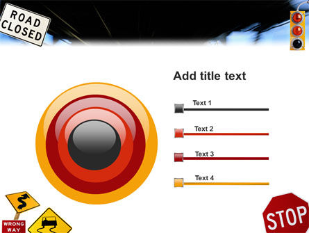 Road Sign PowerPoint Template Slide 9