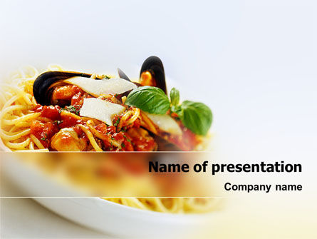 Spaghetti PowerPoint Template, 02199, Food & Beverage — PoweredTemplate.com