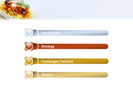 Spaghetti PowerPoint Template, Slide 3, 02199, Food & Beverage — PoweredTemplate.com