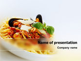 Food & Beverage: Spaghetti PowerPoint Template #02199