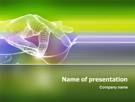 Technology PowerPoint Template, 02203, Telecommunication — PoweredTemplate.com