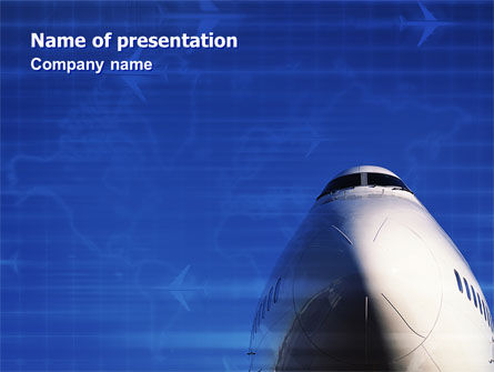 Cars and Transportation: Aircraft Ready To Fly PowerPoint Template #02204