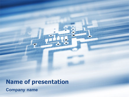 Microprocessor PowerPoint Template, 02205, Technology and Science — PoweredTemplate.com