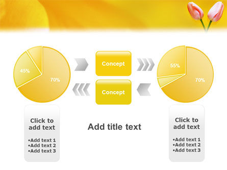 Tulip On A Yellow PowerPoint Template Slide 11