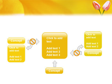 Tulip On A Yellow PowerPoint Template Slide 13