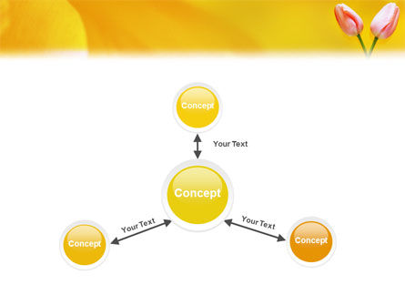 Tulip On A Yellow PowerPoint Template Slide 14