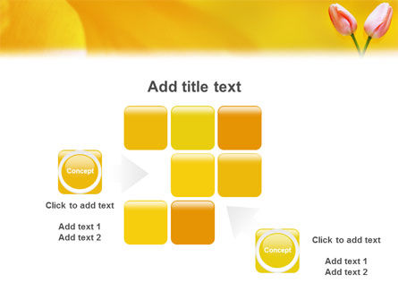 Tulip On A Yellow PowerPoint Template Slide 16