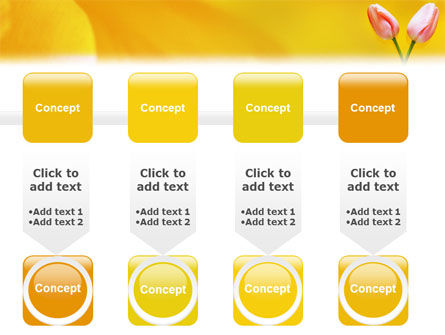 Tulip On A Yellow PowerPoint Template Slide 18