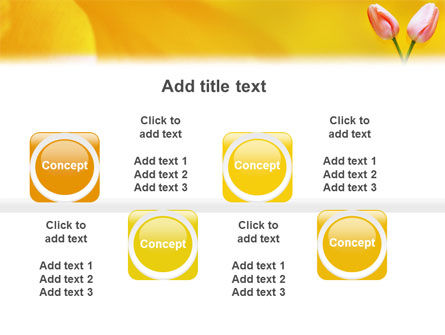 Tulip On A Yellow PowerPoint Template Slide 19