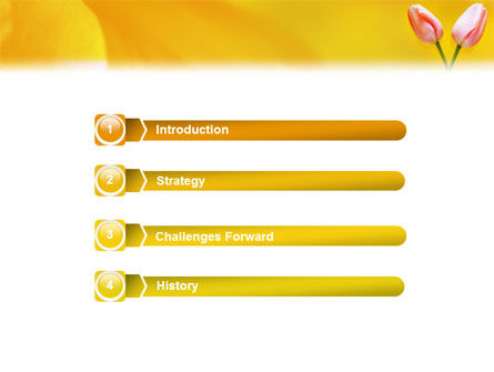 Tulip On A Yellow PowerPoint Template Slide 3