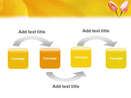 Tulip On A Yellow PowerPoint Template Slide 4