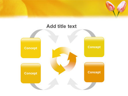Tulip On A Yellow PowerPoint Template Slide 6