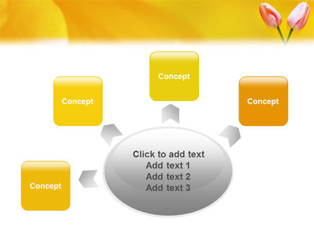 Tulip On A Yellow PowerPoint Template Slide 7