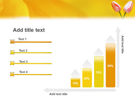 Tulip On A Yellow PowerPoint Template Slide 8