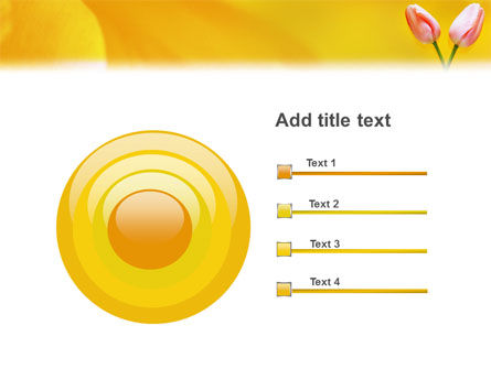 Tulip On A Yellow PowerPoint Template Slide 9