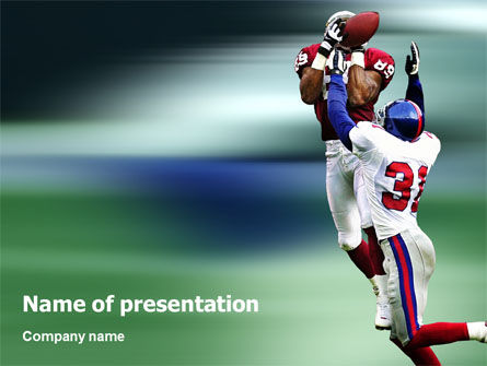 American Football Atlanta Falcons PowerPoint Template, 02207, Sports — PoweredTemplate.com