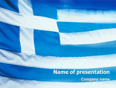 Flag of Greece PowerPoint Template, 02208, Flags/International — PoweredTemplate.com