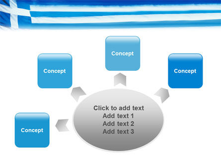 Flag of Greece PowerPoint Template Slide 7