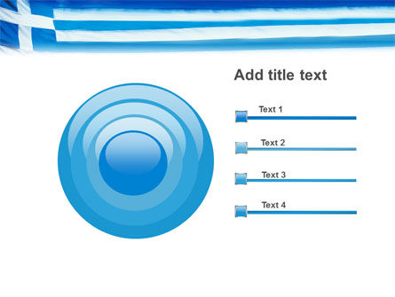 Flag of Greece PowerPoint Template Slide 9
