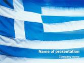 Flags/International: Modelo do PowerPoint - bandeira da grécia #02208