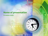 Business: Clock Face PowerPoint Template #02210
