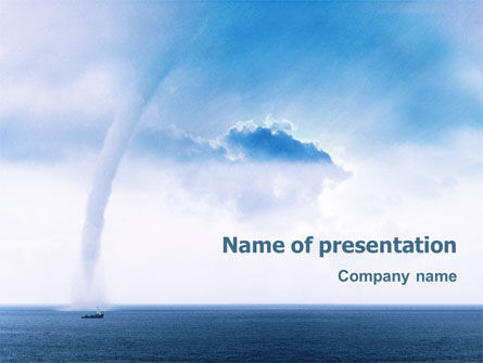 Nature & Environment: Waterspout PowerPoint Template #02211