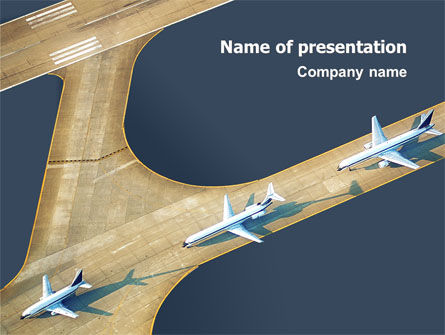 Cars and Transportation: Plantilla de PowerPoint - aeropuerto #02212