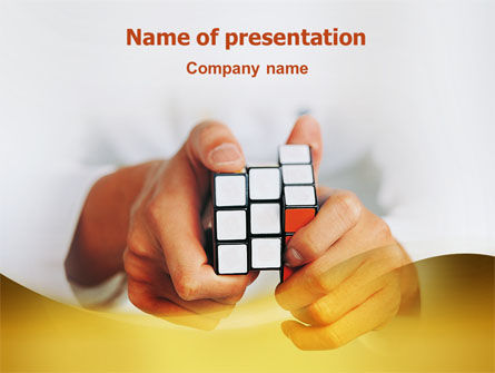 Business Concepts: 拼图rubik的立方体PowerPoint模板 #02213