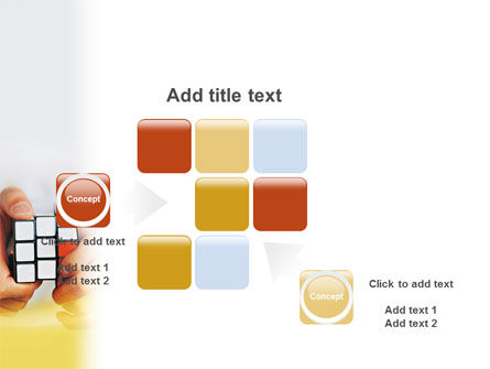 Puzzle Rubik's Cube PowerPoint Template Slide 16