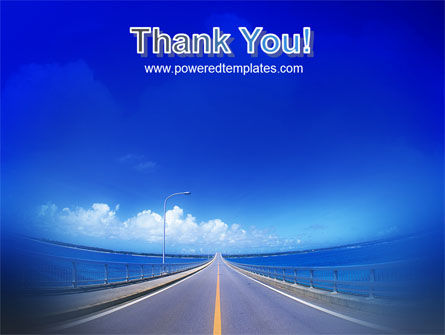 Highway In A Blue Distance PowerPoint Template Slide 20
