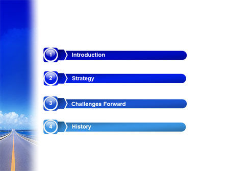 Highway In A Blue Distance PowerPoint Template Slide 3
