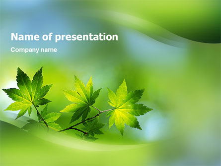 Flora PowerPoint Template, 02215, Nature & Environment — PoweredTemplate.com