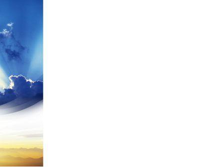 Blue Sky With Sunbeams PowerPoint Template, Slide 3, 02216, Religious/Spiritual — PoweredTemplate.com