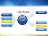 Blue Sky With Sunbeams PowerPoint Template#14