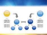 Blue Sky With Sunbeams PowerPoint Template#19